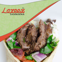 """Picture of 8"""" Beef Shawarma Wrap"""