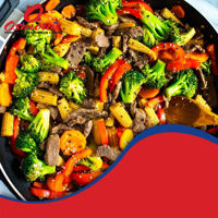 Picture of Beef on the Veggies